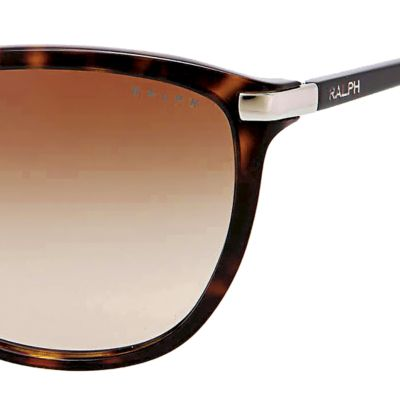 Women: Ralph By Ralph Lauren Accessories: Dark Tortoise Ralph by Ralph Lauren Plastic Cateye Sunglasses