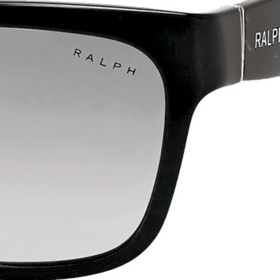 Ralph by Ralph Lauren: Black Gradient Ralph by Ralph Lauren Square Thick Temple Sunglasses