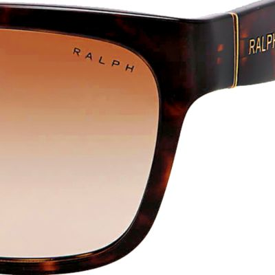 Ralph by Ralph Lauren: Brown Gradient Ralph by Ralph Lauren Square Thick Temple Sunglasses