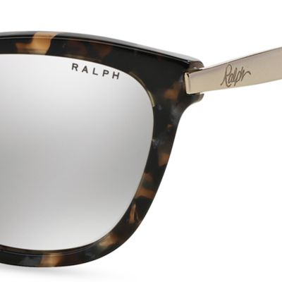 Women: Ralph By Ralph Lauren Accessories: Light Tortoise Ralph by Ralph Lauren Havana Cateye Sunglasses