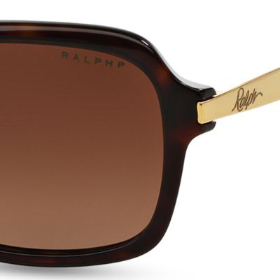 Women: Ralph By Ralph Lauren Accessories: Tortoise Ralph by Ralph Lauren Extended Temple Sunglasses