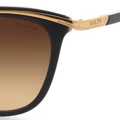 Women: Ralph By Ralph Lauren Accessories: Black Ralph by Ralph Lauren Combo Cateye Sunglasses