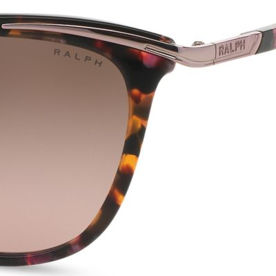 Women: Ralph By Ralph Lauren Accessories: Light Tortoise Ralph by Ralph Lauren Combo Cateye Sunglasses