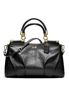 COACH MADISON LEATHER CARRIE SATCHEL
