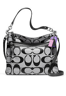 COACH POPPY SIGNATURE METALLIC OUTLINE PERRI HIPPIE CROSSBODY