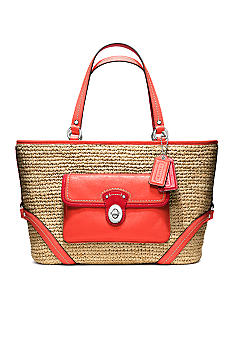 COACH STRAW POCKET TOTE