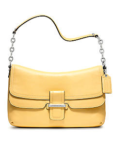COACH MADISON LEATHER FLAP SHOULDER BAG