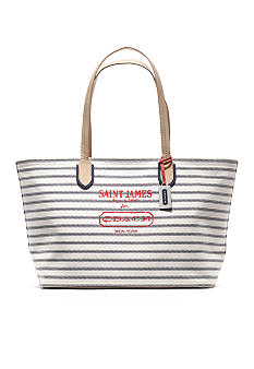 COACH LEGACY WEEKEND SAINT JAMES YARN DYED MEDIUM ZIP TOP TOTE