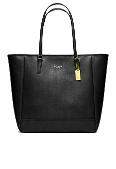 COACH SAFFIANO LEATHER MEDIUM NORTH/SOUTH TOTE