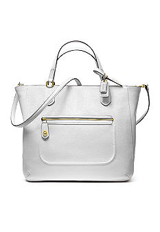 COACH POPPY TEXTURED PATENT SMALL BLAIRE TOTE