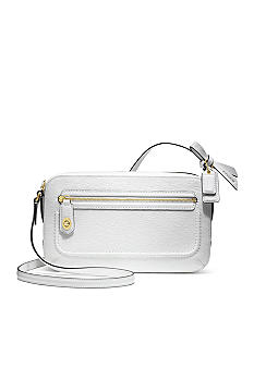 COACH POPPY TEXTURED PATENT FLIGHT BAG