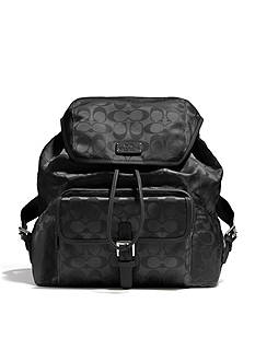 COACH SIGNATURE NYLON BACKPACK