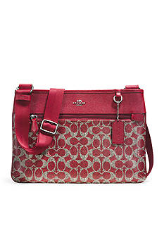 COACH Signature Coated Canvas Spencer Crossbody