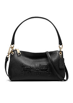 COACH PEBBLED LEATHER EMBOSSED HORSE AND CARRIAGE CHARLEY CROSSBODY