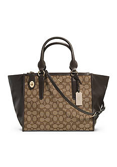 COACH SIGNATURE JACQUARD CROSBY CARRYALL