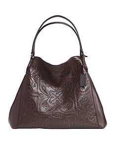 COACH Leather Mini Studs Edie Large Shoulder Bag