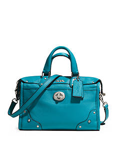 COACH LEATHER RHYDER 24 SATCHEL