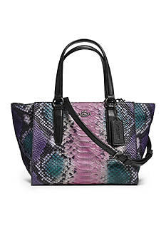 COACH PYTHON EMBOSSED LEATHER CROSBY MINI CARRYALL