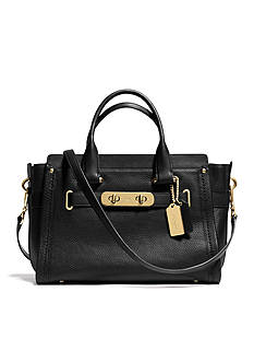 COACH NUBUCK PEBBLE LEATHER SWAGGER CARRYALL