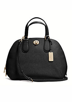 COACH CROSSGRAIN LEATHER PRINCE STREET SATCHEL