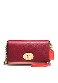 COACH COLORBLOCK LEATHER CROSSTOWN CROSSBODY