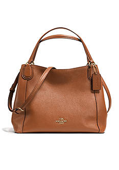 COACH PEBBLE LEATHER 28 EDIE SHOULDER BAG