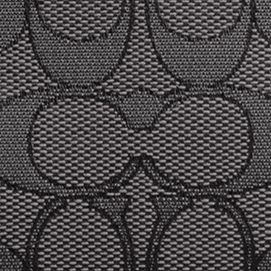 Women: Coach Accessories: Sv/Black Smoke/Black COACH SIGNATURE JACQUARD PRAIRIE SATCHEL