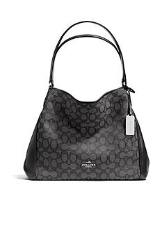 COACH EDIE SHOULDER BAG 31IN SIGNATURE JACQUARD