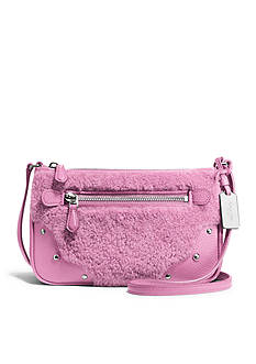 COACH SHEARLING SMALL RHYDER POCHETTE CROSSBODY