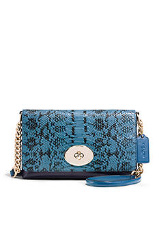 COACH COLORBLOCK EXOTIC EMBOSSED LEATHER CROSSTOWN CROSSBODY