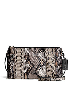 COACH PIECED EXOTIC EMBOSSED LEATHER CROSBY CROSSBODY
