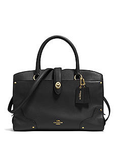 COACH GRAIN LEATHER MERCER 30 SATCHEL