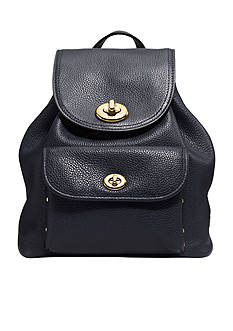 COACH PEBBLE LEATHER MINI TURNLOCK RUCKSACK