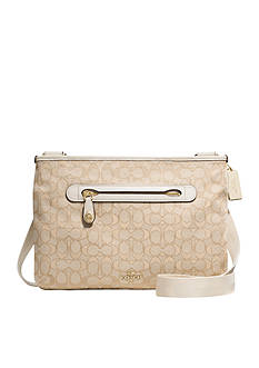 COACH SIGNATURE COATED CANVAS TAYLOR CROSSBODY