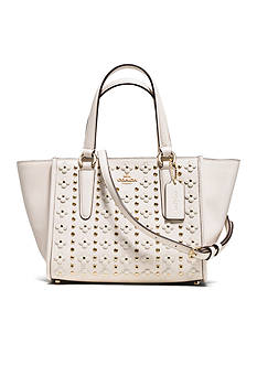 COACH MINI CROSSBODY CARRYALL IN FLORAL RIVETS LEATHER