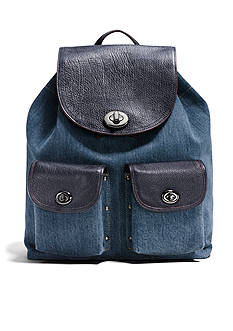 COACH TURNLOCK RUCKSACK IN COLORBLOCK DENIM