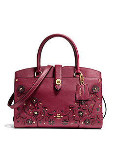 COACH Willow Floral Mercer Satchel 30-in. Grain Leather