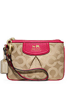 COACH MADISON OP ART SATEEN SMALL WRISTLET