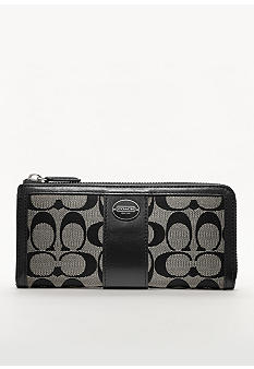 COACH LEGACY SIGNATURE SLIM ZIP WALLET