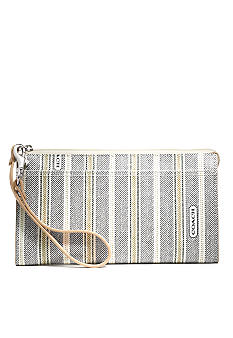 COACH LEGACY WEEKEND TICKING STRIPE ZIPPY WALLET