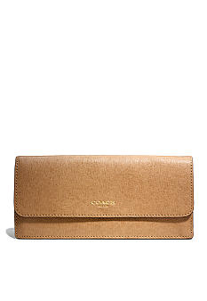 COACH SAFFIANO LEATHER NEW SOFT WALLET