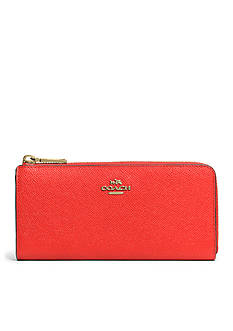 COACH EMBOSSED TEXTURED LEATHER SLIM ZIP WALLET