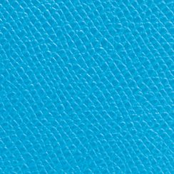 Designer Mini Bags: Sv/Azure COACH EMBOSSED TEXTURED LEATHER NORTH/SOUTH SWINGPACK
