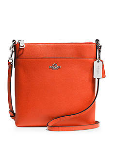 COACH EMBOSSED TEXTURED LEATHER NORTH/SOUTH SWINGPACK