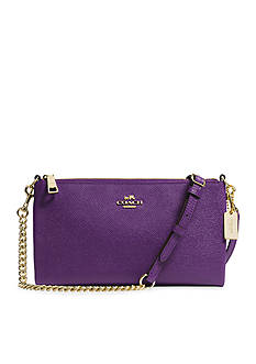 COACH EMBOSSED TEXTURED LEATHER KYLIE CROSSBODY