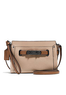 COACH COLORBLOCK LEATHER SWAGGER WRISTLET