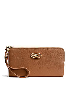 COACH REFINED GRAIN LEATHER L-ZIP WALLET