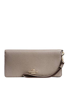 COACH Colorblock Leather Slim Wallet