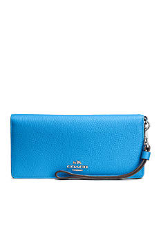COACH Colorblock Leather Slim Wallet