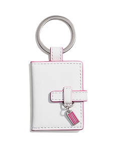 COACH LEATHER PICTURE FRAME KEY CHAIN